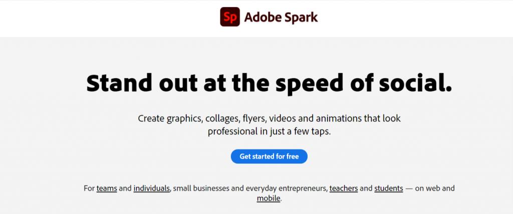 Adobe Spark - cuanto sale